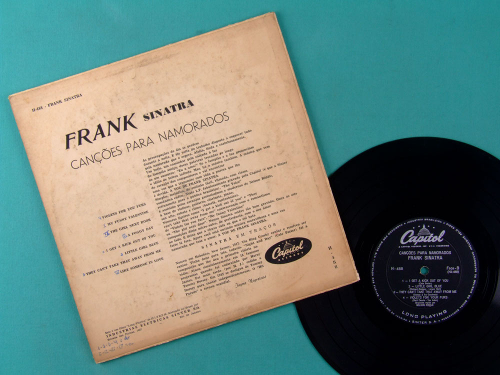 10 INCHES FRANK SINATRA SONGS FOR YOUNG LOVERS POP MUSIC BRAZIL