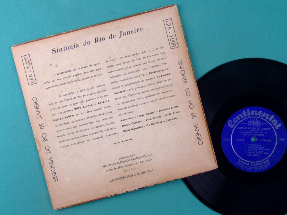 10 INCHES SINFONIA DO RIO DE JANEIRO POPULAR EM TEMPO DE SAMBA TOM JOBIM BILLY BLANCO DICK FARNEY OS CARIOCAS DORIS MONTEIRO EMILINHA BOSSA NOVA BRAZIL