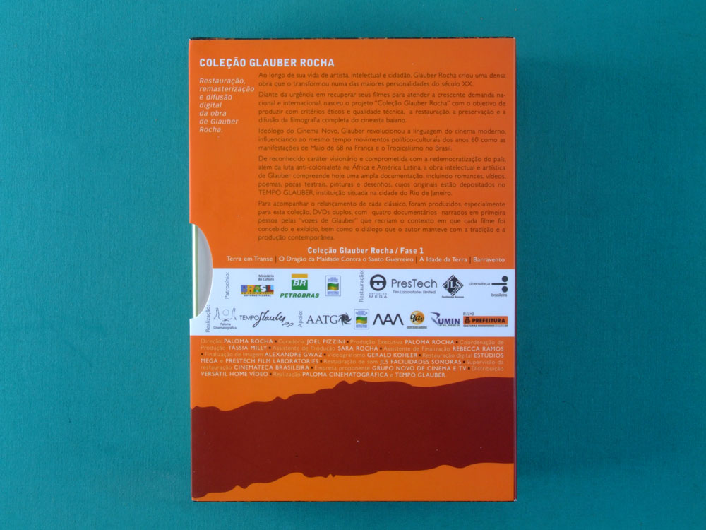 DVD GLAUBER ROCHA 5 MOVIES - GLAUBER COLLECTION FASE 1 AND DEUS E O DIABO NA TERRA DO SOL EM TRANSE A IDADE DA CINEMA NOVO UNDERGROUND COUNTERCULTURE BRAZIL