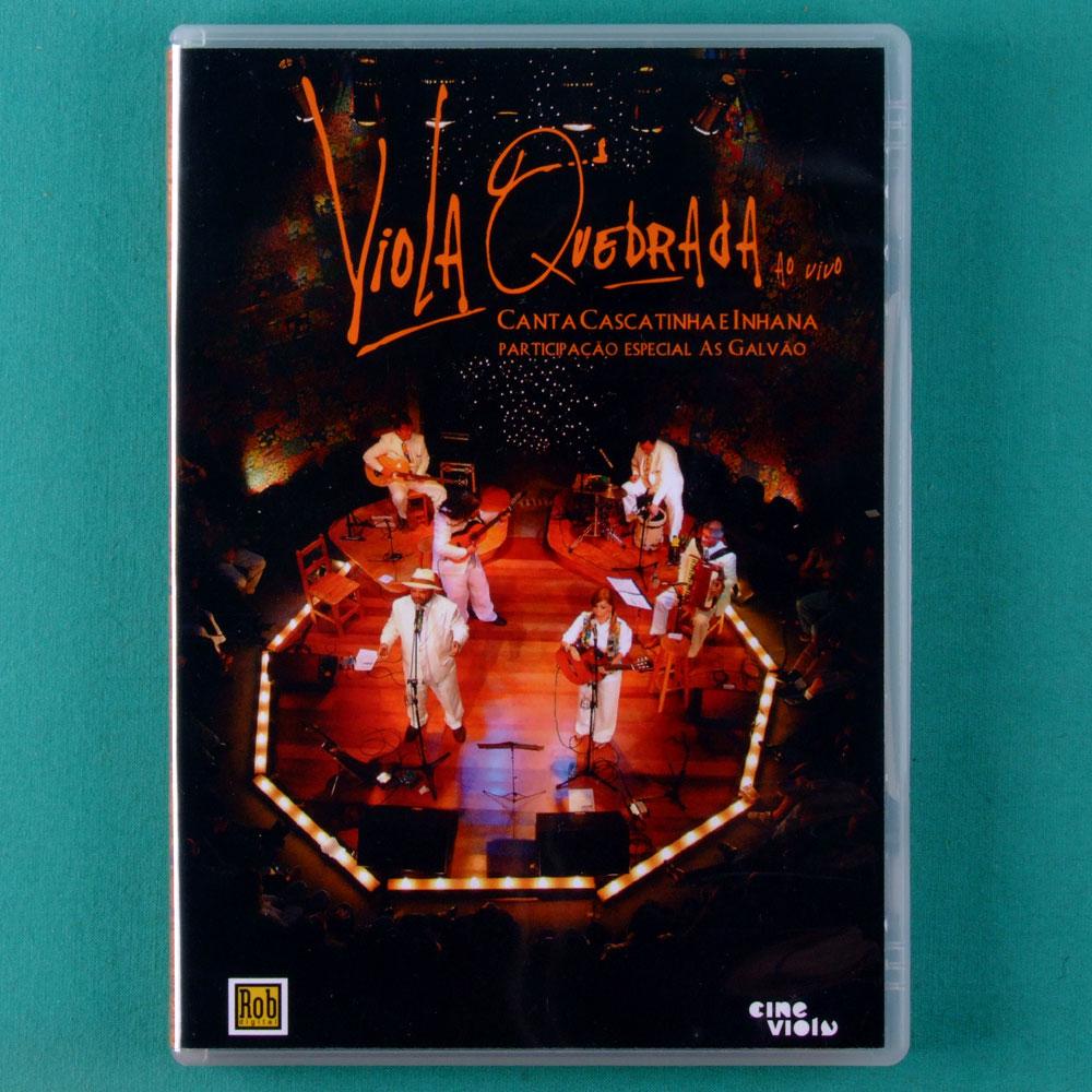 DVD VIOLA QUEBRADA AO VIVO CANTA CASCATINHA E INHANA 2010 AS GALVAO REGIONAL BRAZIL