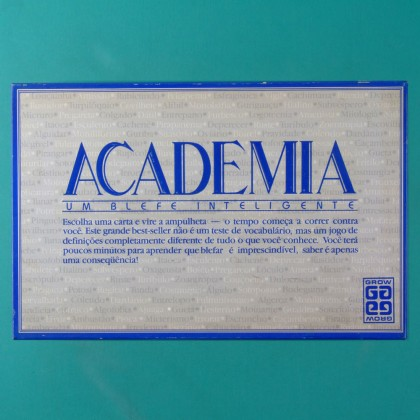 GAMES ACADEMIA GROW VINTAGE 80'S TOY BRAZIL
