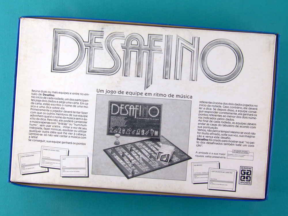 GAMES DESAFINO GROW VINTAGE 80'S TOY BRAZIL
