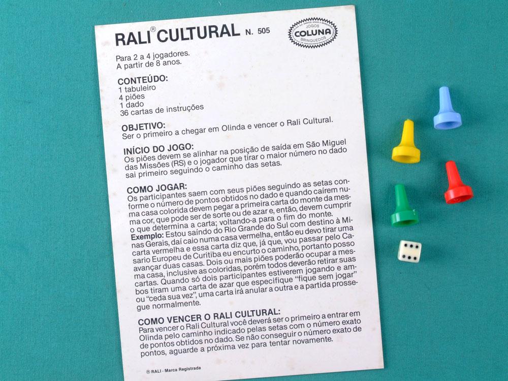 GAMES RALI CULTURAL COLUNA VINTAGE 80'S TOYS BRAZIL