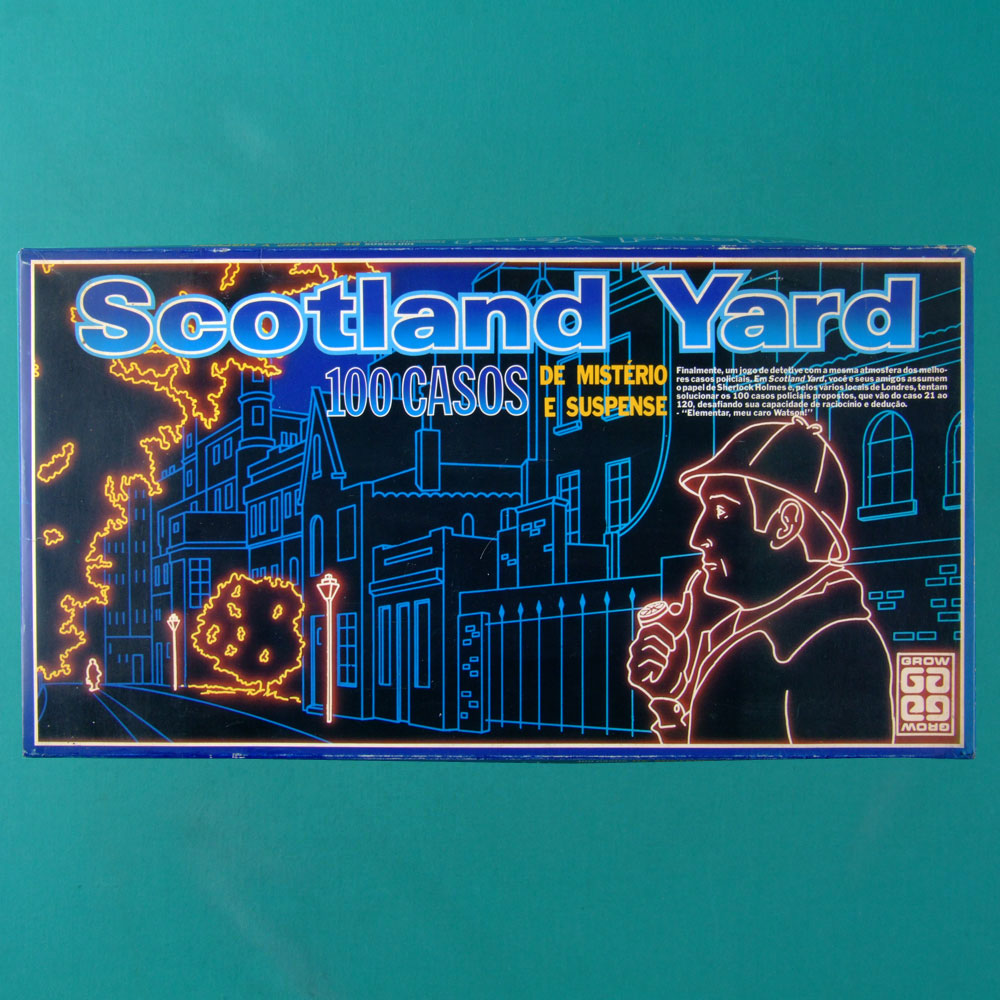 GAMES SCOTLAND YARD GROW VINTAGE 80'S TOY SHERLOCK HOLMES BRAZIL