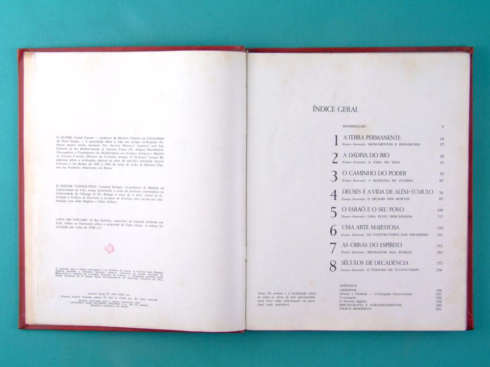 BOOK O ANTIGO EGITO 1969 BIBLIOTECA DE HISTORIA UNIVERSAL TIME LIFE BRAZIL