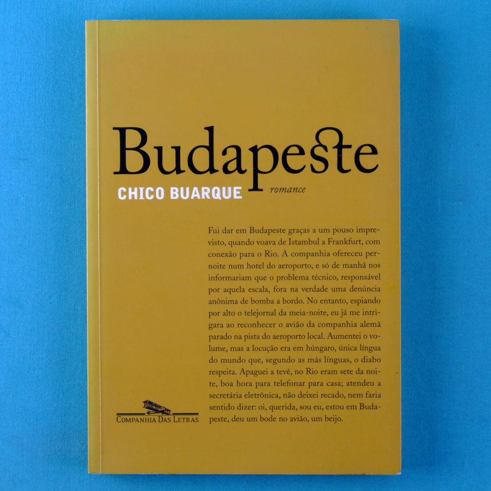 BOOK CHICO BUARQUE BUDAPESTE 2003 2ND EDITION BRAZIL