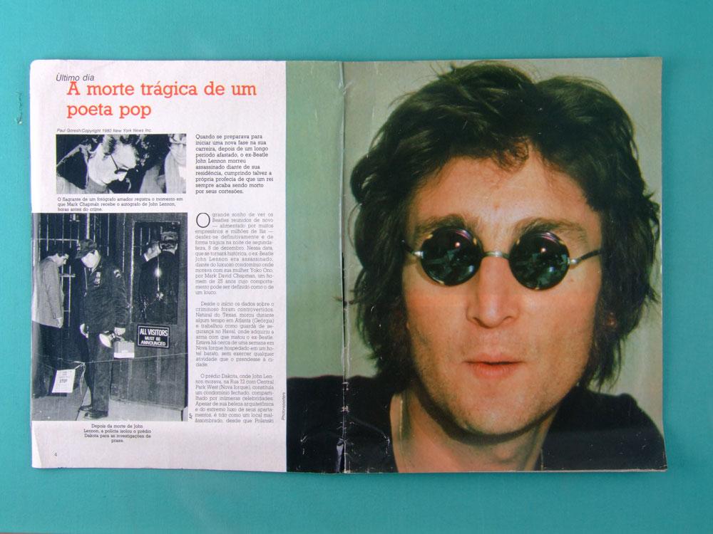 BOOK JOHN LENNON VIDA E MORTE DE UM BEATLE AMIGA ESPECIAL BRAZIL