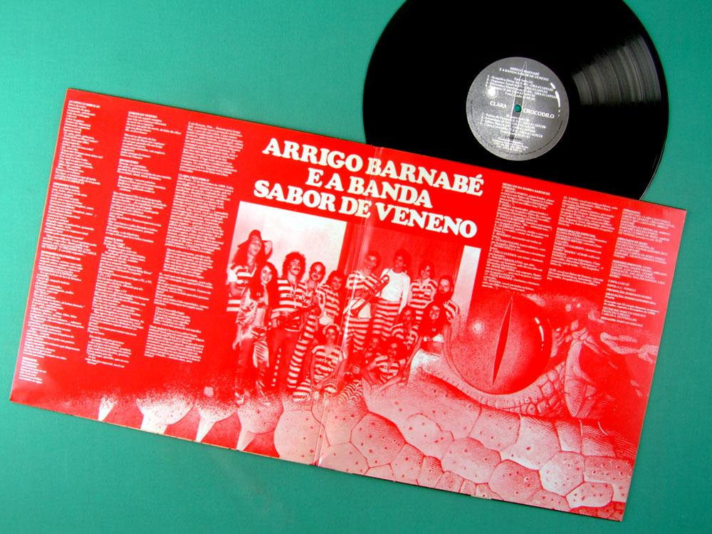 LP ARRIGO BARNABE E A BANDA SABOR DE VENENO CLARA CROCODILO 1980 PYSCH BRAZIL