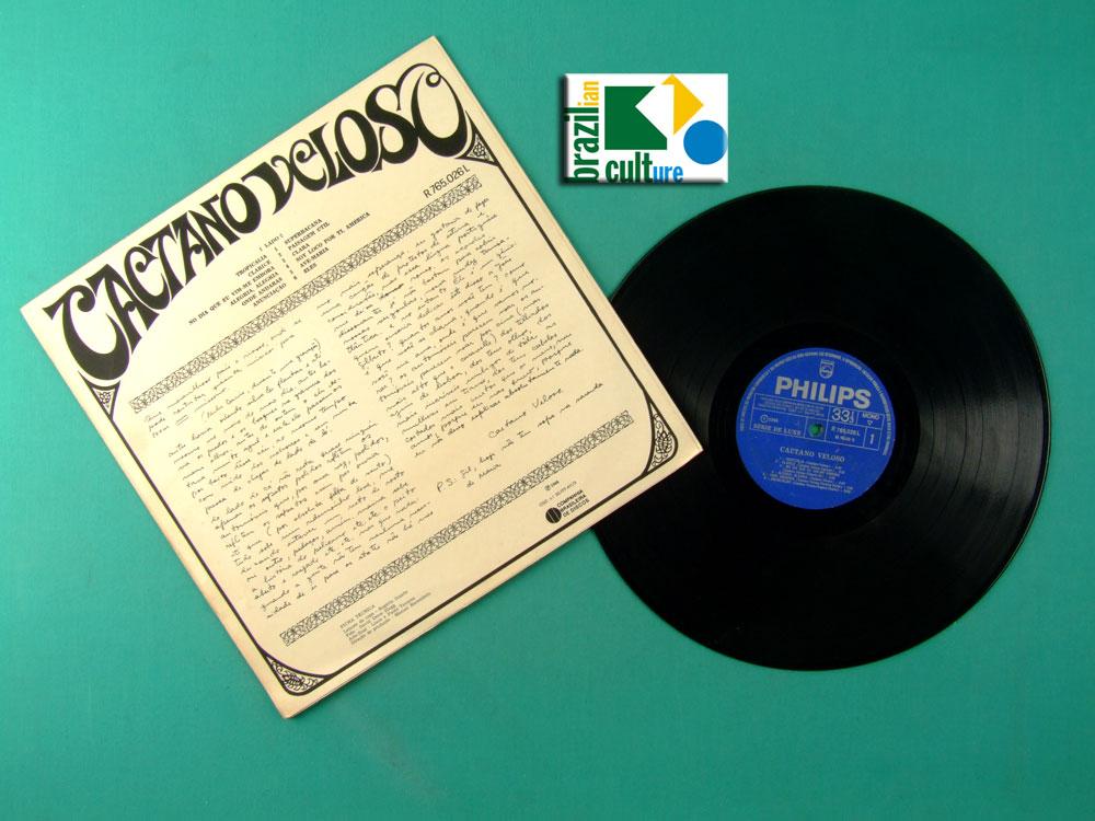 LP CAETANO VELOSO 1968 DEBUT MUTANTES GIL GAL COSTA TROPICALIA PSYCH FOLK BOSSA BRAZIL