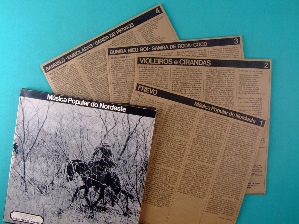 LP BOXED MUSICA POPULAR DO NORDESTE 1972 FOLK ROOTS PRIVATE JOGRAL MARCUS PEREIRA BRAZIL