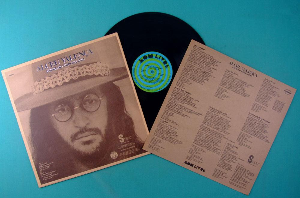 LP ALCEU VALENCA ESPELHO CRISTALINO 1977 AVE SANGRIA IVINHO REGIONAL PSYCH FOLK BRAZIL