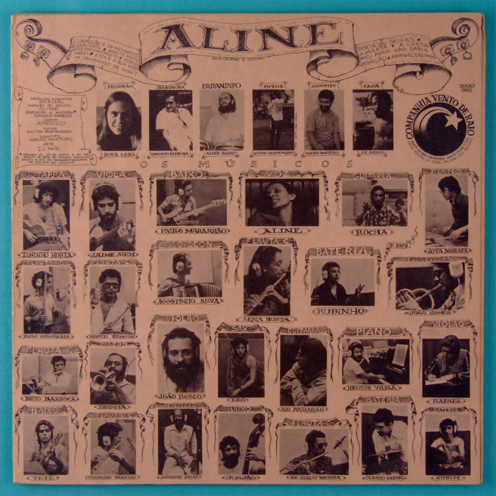 LP ALINE 1979 JOAO BOSCO RAFAEL RABELLO JAIME ALEM TONINHO HORTA MINAS BRAZIL