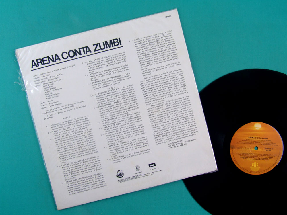 LP EDU LOBO OST FROM THE PLAY ARENA CONTA ZUMBI 1965 / 1989 BRAZIL