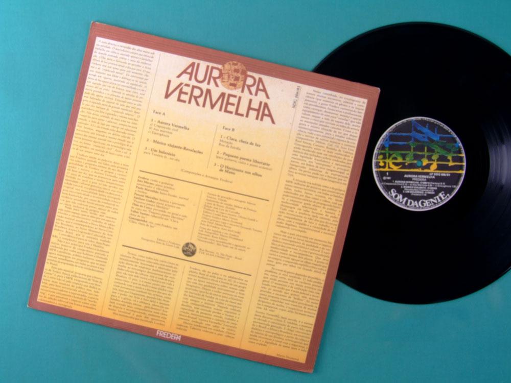 LP FREDERA FREDERIKO AURORA VERMELHA 1981 1ST ORIGINAL GONZAGA JR INSTRUMENTAL FUSION ROCK JAZZ BRAZIL