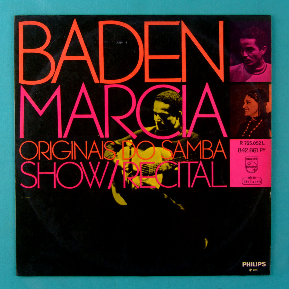 LP BADEN POWELL MARCIA ORIGINAIS DO SAMBA 1968 1ST BOSSA BRAZIL