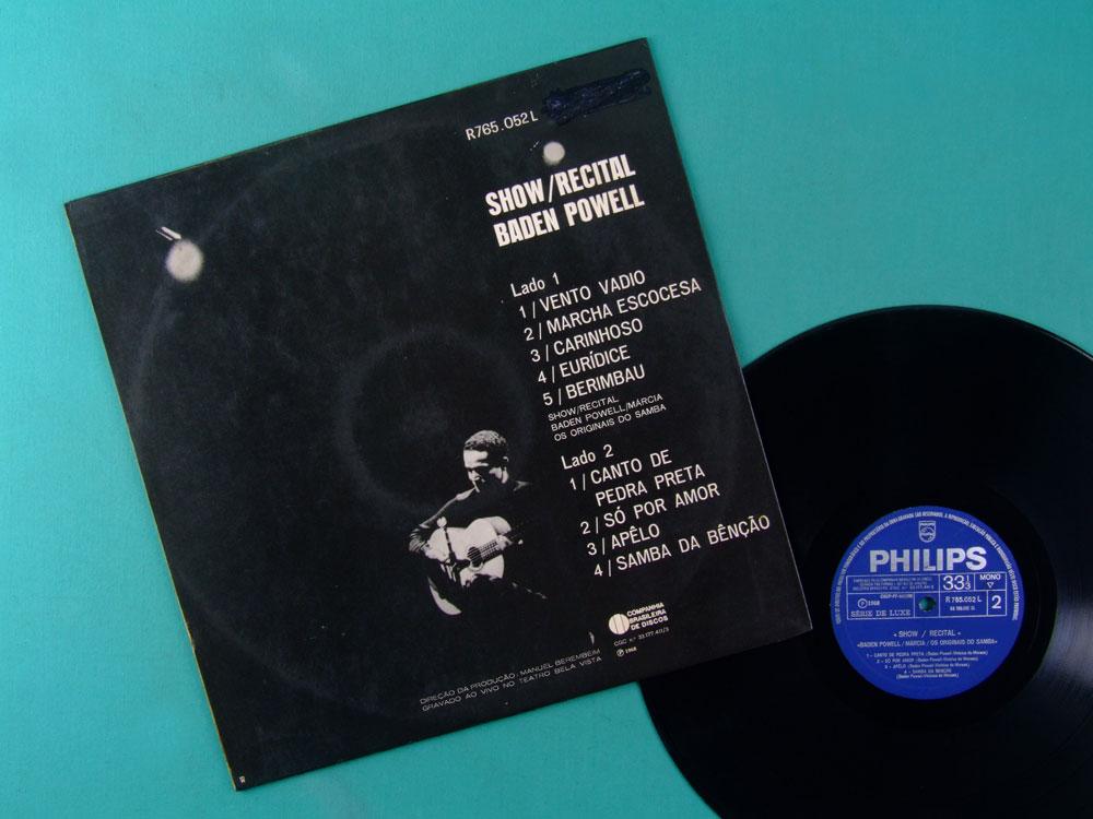 LP BADEN POWELL MARCIA ORIGINAIS DO SAMBA 1968 1ST BOSSA BRAZIL