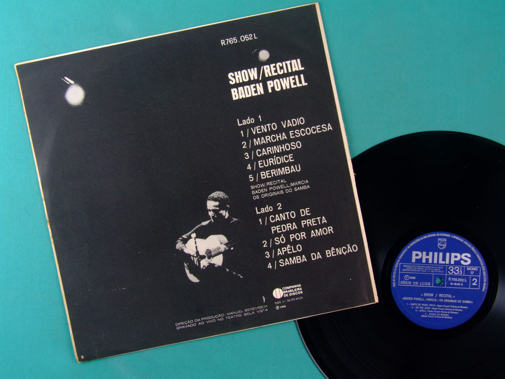 LP BADEN POWELL MARCIA ORIGINAIS DO SAMBA 1968 2ND BOSSA BRAZIL