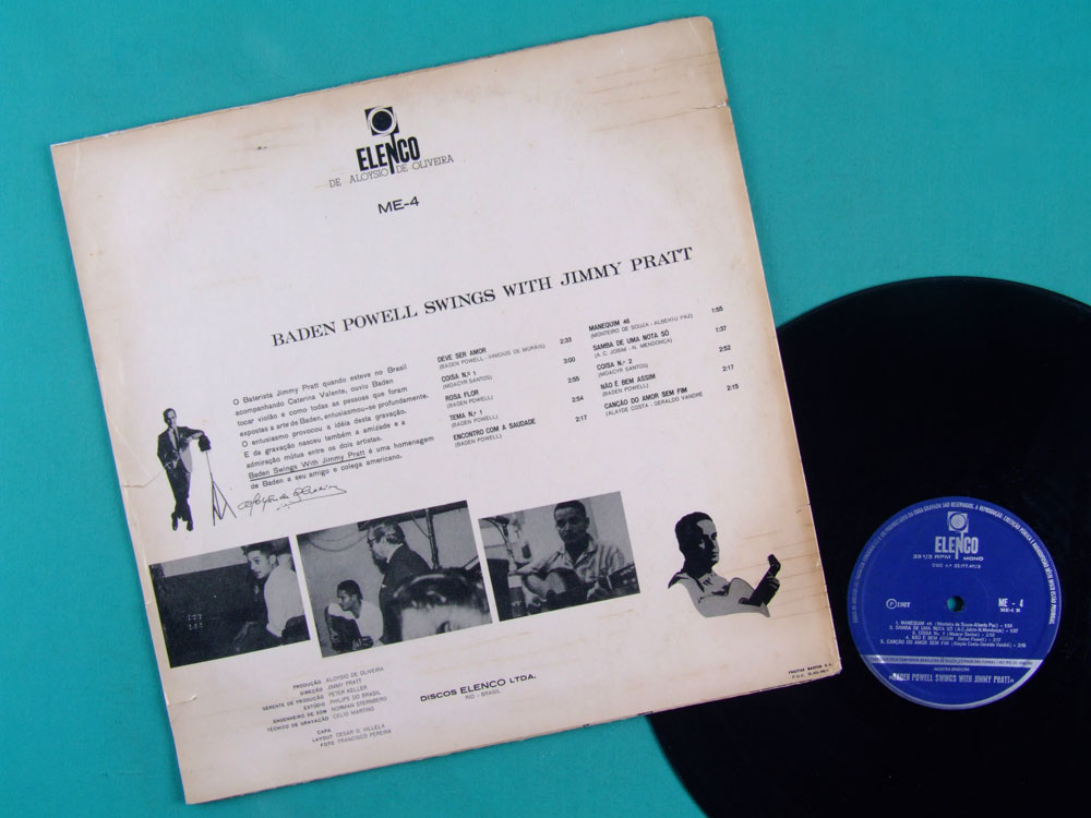 LP BADEN POWELL SWINGS WITH JIMMY 1967 PRATT BOSSA  BRAZIL