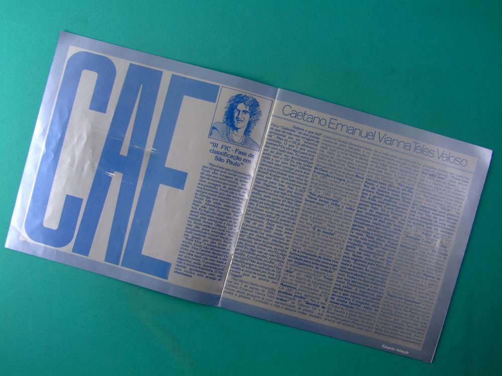 LP BOX CAETANO VELOSO O AVARANDADO DO AMANHECER 1981 GROOVE BOSSA PSYCH BRAZIL