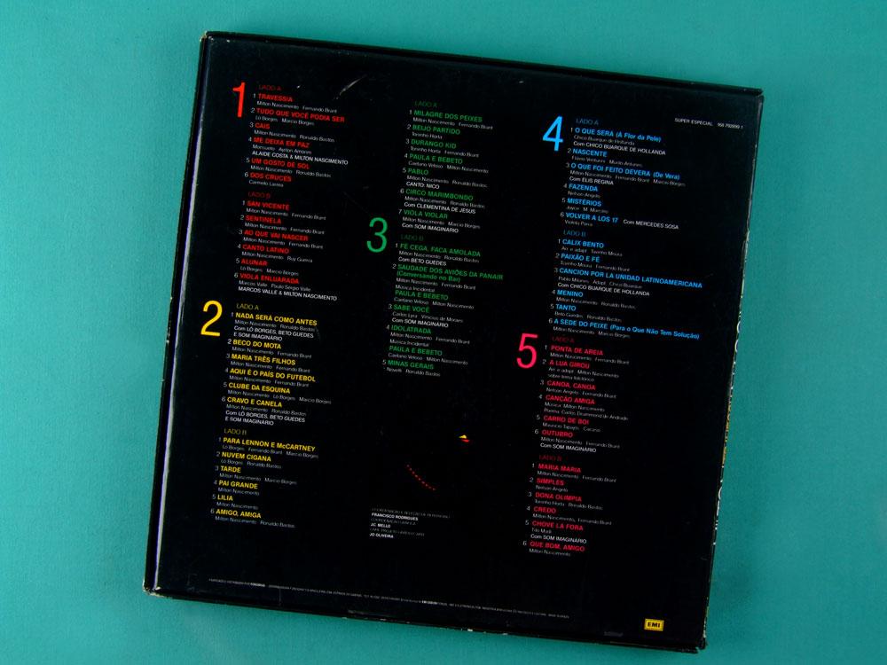 LP BOX MILTON NASCIMENTO TRAVESSIA 1989 MINAS BRASIL