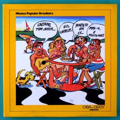 LP BOX MUSICA POPULAR BRASILEIRA CIBA GEIGY ADITIVOS CAETANO TOM JOBIM QUARTETO EM CY MPB 4 BRAZIL