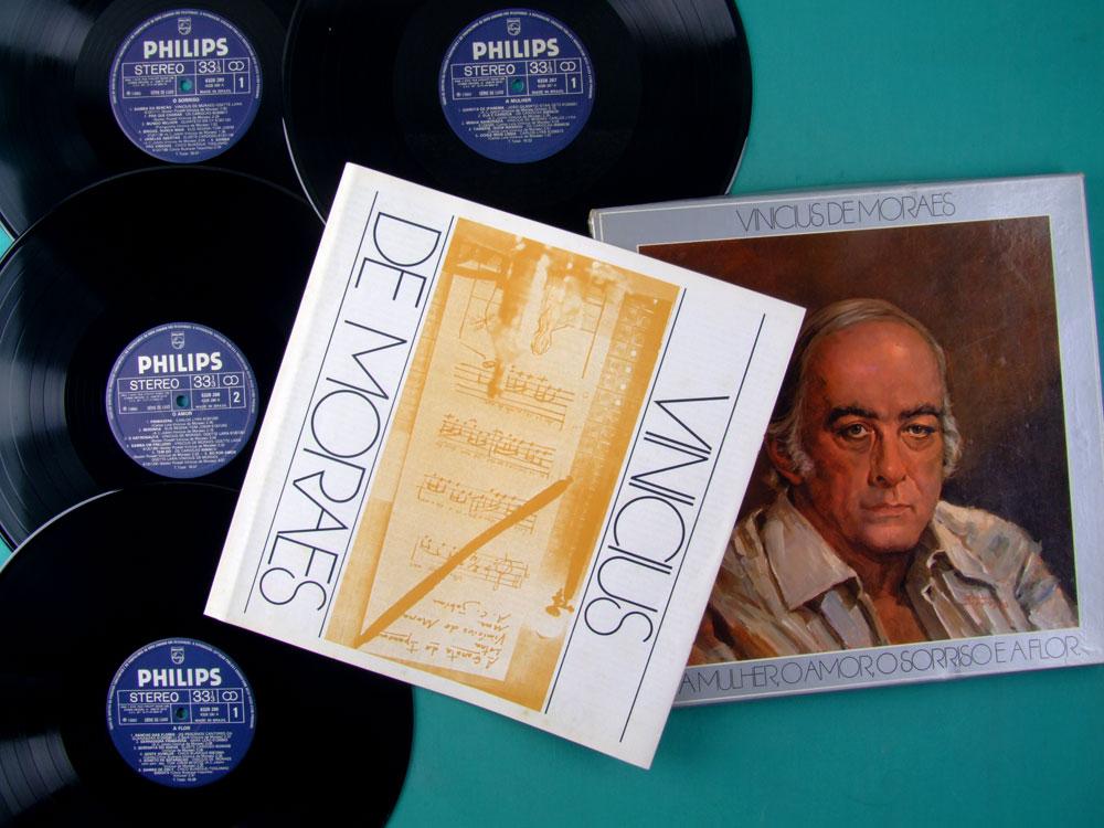 LP BOX VINICIUS DE MORAES A MULHER O AMOR O SORRISO E A FLOR 1980 BRAZIL