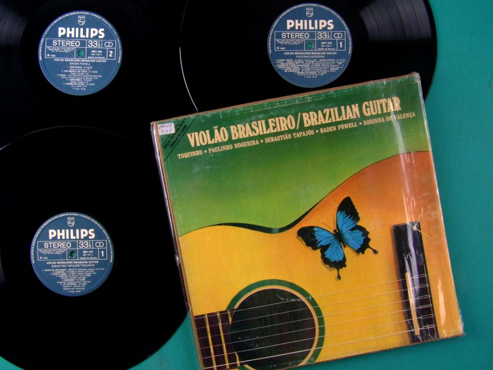 LP BOX VIOLÃO BRASILEIRO 1980 TOQUINHO PAULINHO NOGUEIRA SEBASTIÃO TAPAJÓS BADEN POWELL BRAZILPOWELL ROSINHA DE VALENÇA BRAZIL
