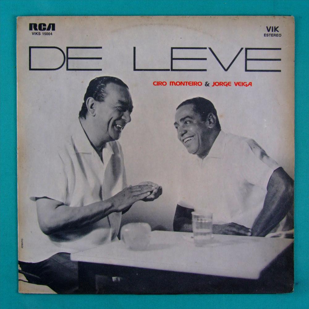 LP CIRO MONTEIRO & JORGE VEIGA DE LEVE 1971 SAMBA BRAZIL