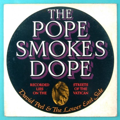 LP DAVID PEEL THE LOWER EAST SIDE THE POPE SMOKES DOPE 1972 JOHN LENNON YOKO ONO USA
