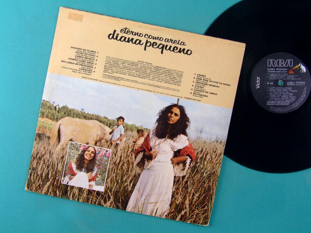 LP DIANA PEQUENO ETERNO COMO AREIA 1979 FOLK REGIONAL BRAZIL