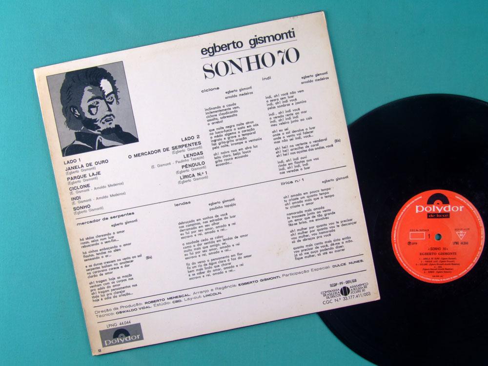 LP EGBERTO GISMONTI SONHO 70 1ST 1970 DULCE NUNES POLYDOR BRAZIL