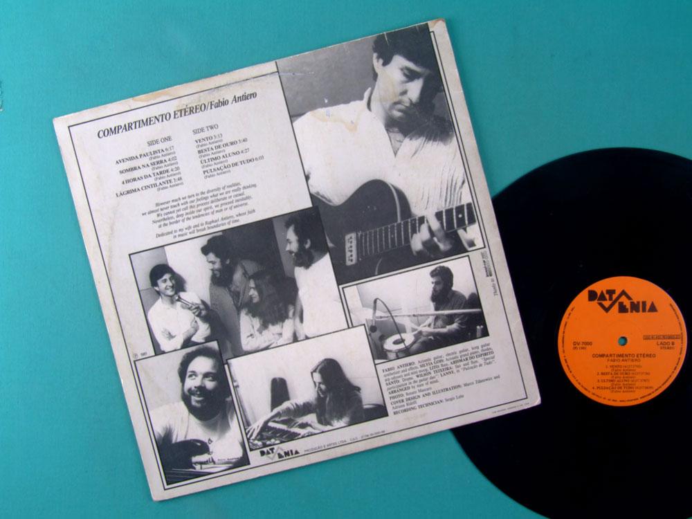LP FABIO ANTIERO COMPARTIMENTO ETEREO 1981 LANNY GORDIN JAZZ ROCK FUSION INSTRUMENTAL BRAZIL