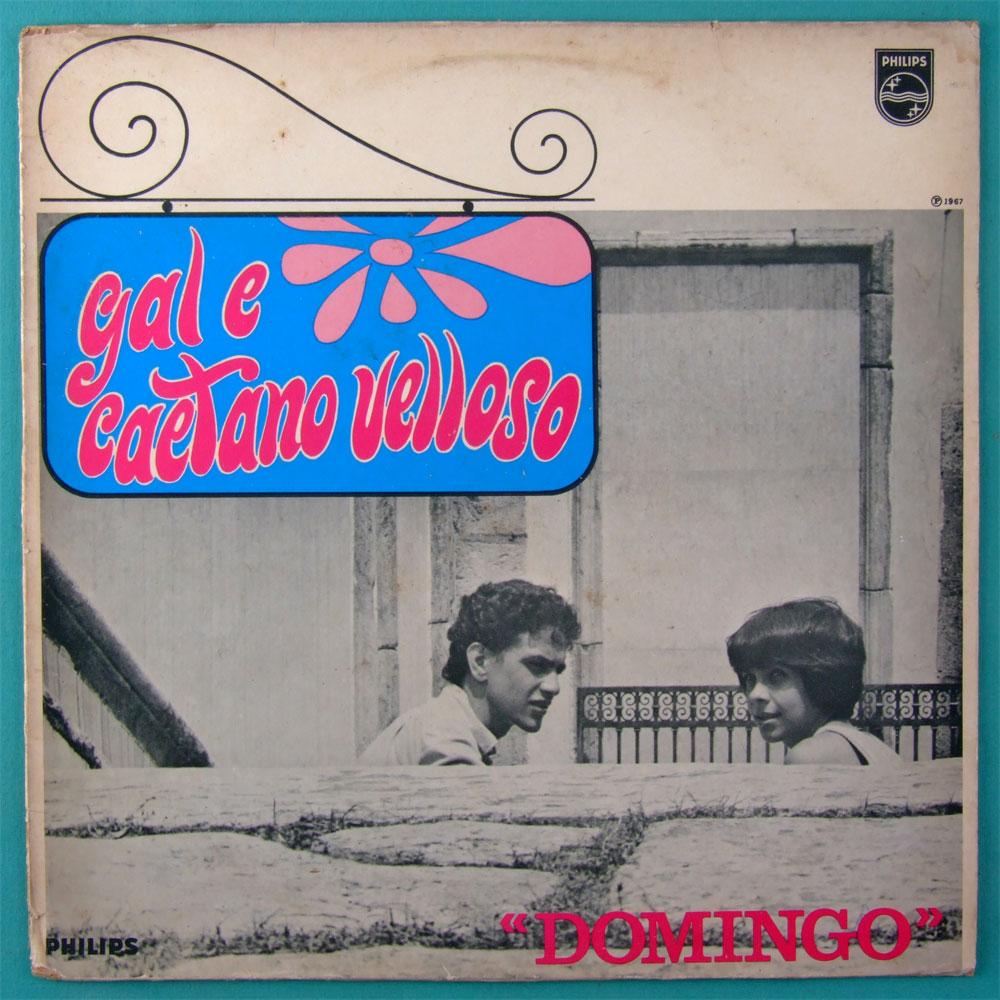 LP GAL COSTA E CAETANO VELOSO DOMINGO 1967 - 2ND 1982 BOSSA FOLK SAMBA BRAZIL