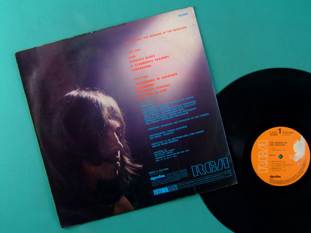 LP GAY VAQUER THE MORNING OF THE MUSICIANS 1973 LUIZ ECA JANE DUBOC PAULO MOURA BOSSA JAZZ PSYCH ROCK BRAZIL