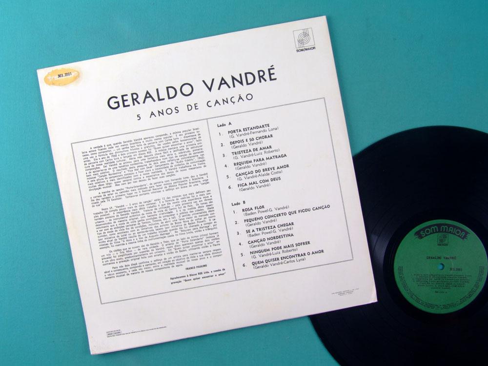 LP GERALDO VANDRE 2ND BOSSA JAZZ FOLK BRAZIL