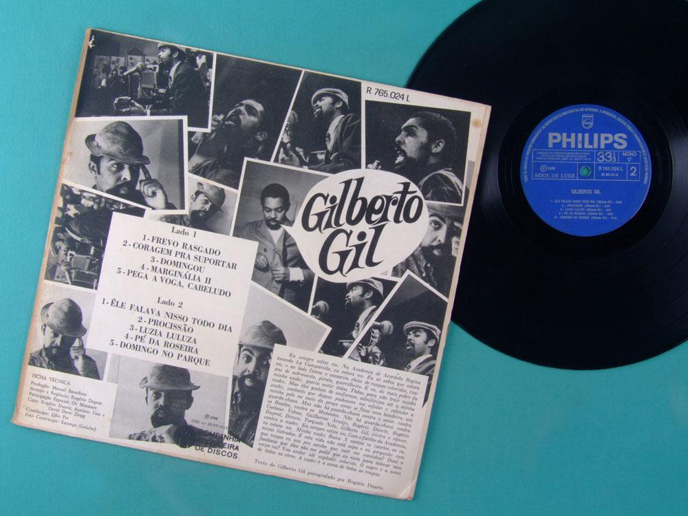 LP GILBERTO GIL 1968 ROGERIO DUPRAT MUTANTES TROPICALIA PSYCH BOSSA BRAZIL