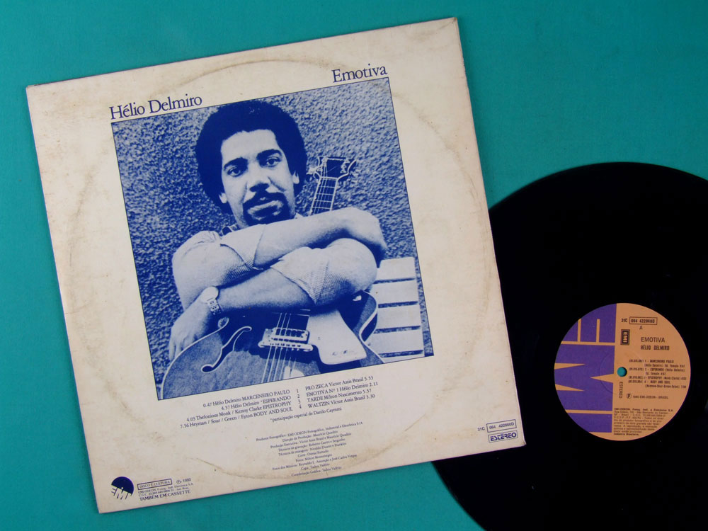 LP HELIO DELMIRO EMOTIVA 1980 JAZZ INSTRUMENTAL BOSSA BRAZIL