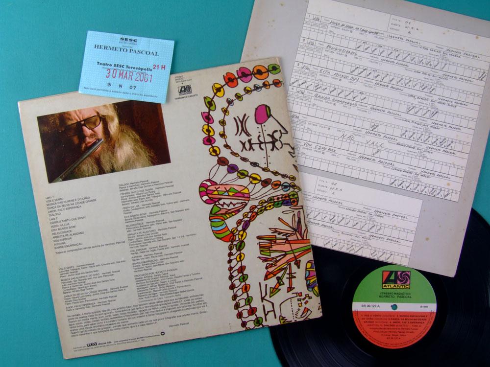 LP HERMETO PASCOAL CEREBRO MAGNETICO 1980 EXP JAZZ BRAZIL