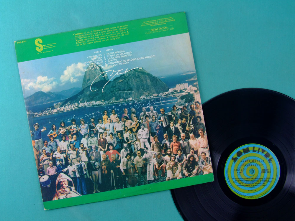 LP JARDS MACALE CONTRASTES 1977 JACKSON DO PANDEIRO GILBERTO GIL DOMINGUINHOS BOSSA SAMBA PSYCH BRAZIL