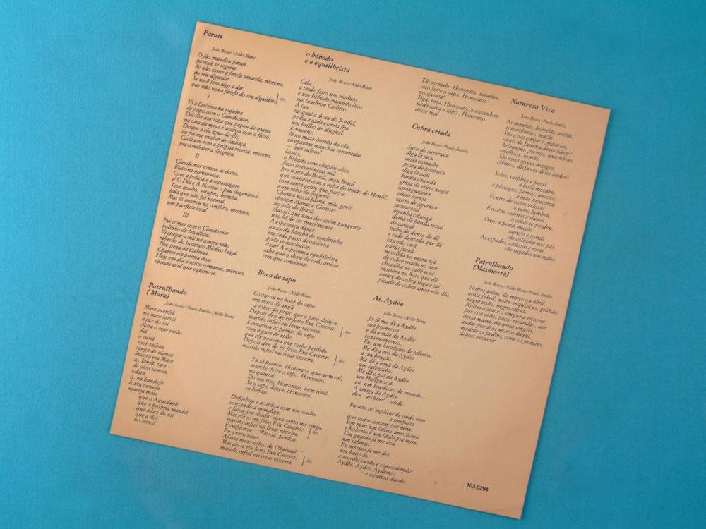 LP JOAO BOSCO LINHA DE PASSE 1979 FOLK SOUL JAZZ BOSSA SAMBA ROCK BRAZIL