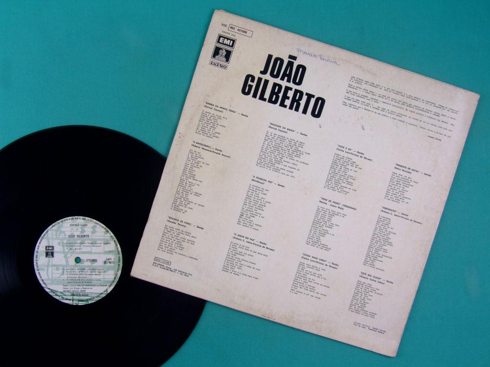 LP JOAO GILBERTO 1961 - 1972 BOSSA JAZZ SAMBA FOLK BRAZIL