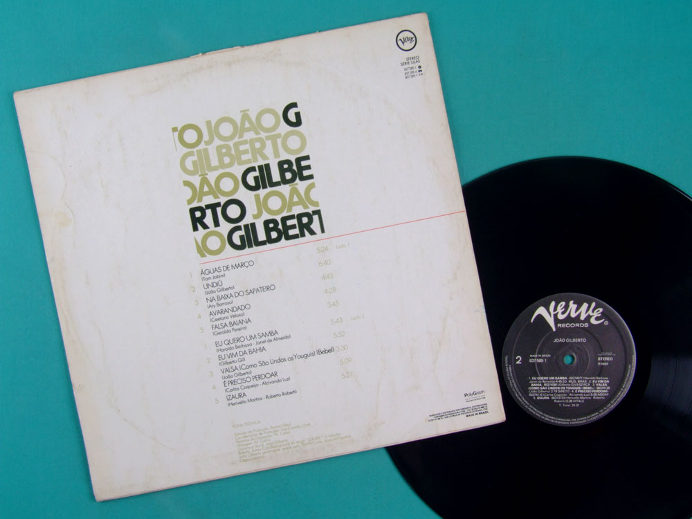 LP JOAO GILBERTO 1973 2ND FOLK BOSSA NOVA JAZZ BRAZIL