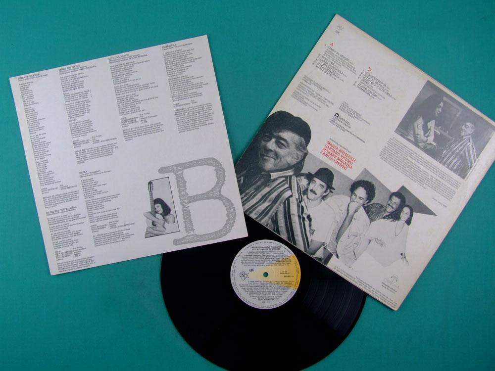 LP JOYCE VINICIUS DE MORAES NEGRO DEMAIS NO CORACAO 1988 CAETANO VELOSO TONINHO HORTA GROOVE BRAZIL