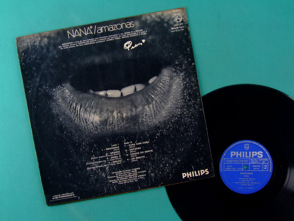 LP NANA VASCONCELOS AMAZONAS 1973 NELSON ANGELO PSYCH EXP AFRO PERCUSSION BRAZIL
