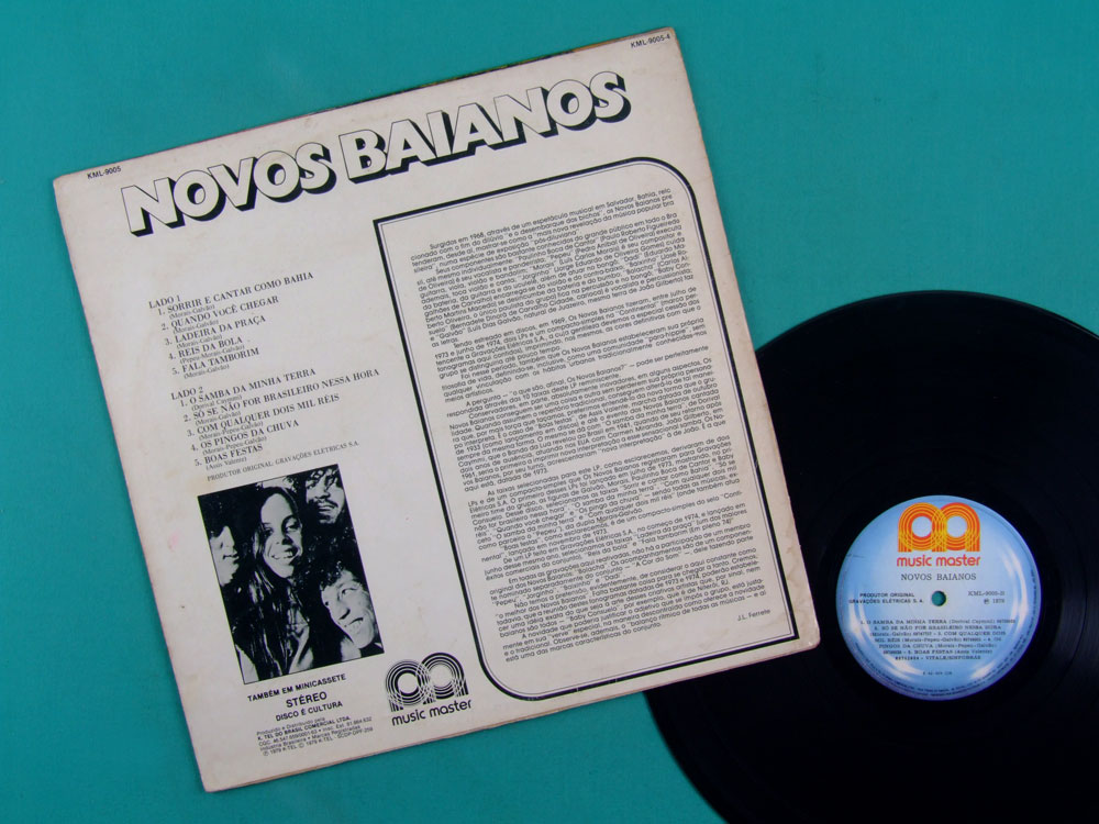 LP NOVOS BAIANOS 1979 SAMBA BOSSA PSYCH FUNK CULT BRAZIL