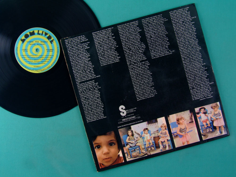 LP NOVOS BAIANOS VAMOS PRO MUNDO 1974 SAMBA BOSSA PSYCH FUNK HIPPIE CULT BRASIL