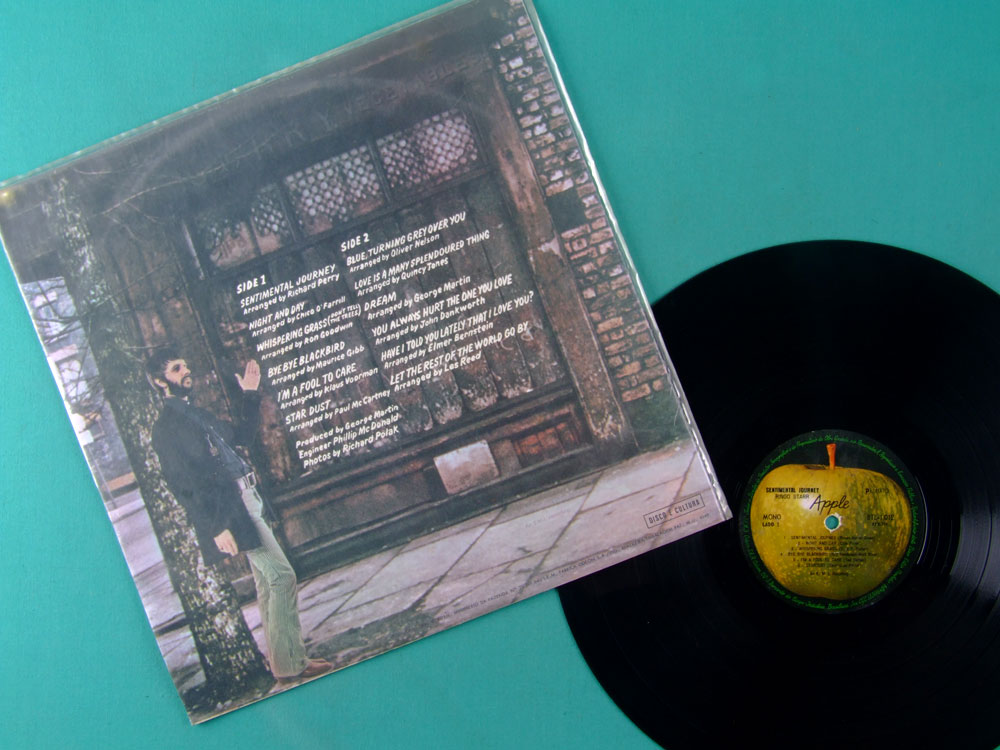 LP RINGO STARR SENTIMENTAL JOURNEY 1970 MONO BEATLES BRAZIL