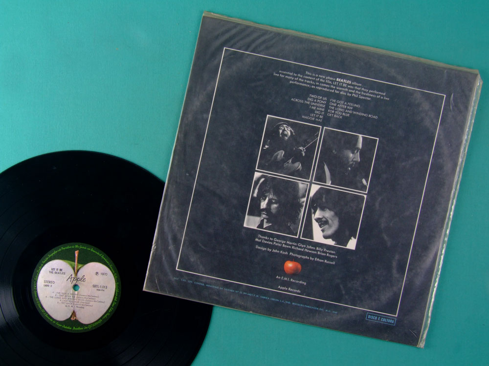 LP THE BEATLES LET IT BE 1970 APPLE BEAT ROCK STEREO BRAZIL