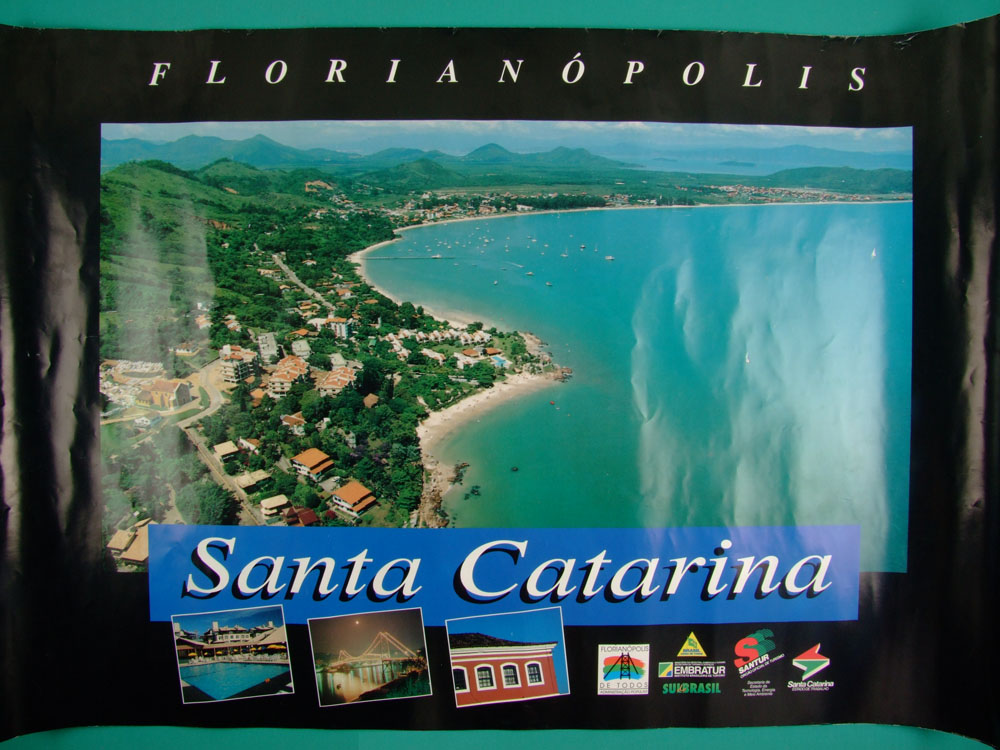 POSTERS SANTA CATARINA STATE FLORIANOPOLIS ISLAND BRUSQUE GAROPABA TRAVEL SUL BRASIL