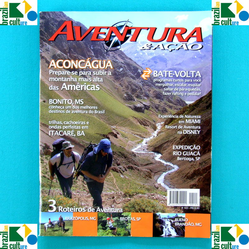 MAG AVENTURA & ACAO #143 ADVENTURE ACONCAGUA BAHIA SP BRAZIL